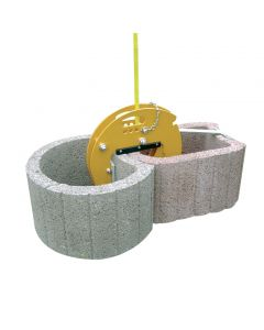 Rubber-lined Stone Clamp (30-110mm, 500kg)